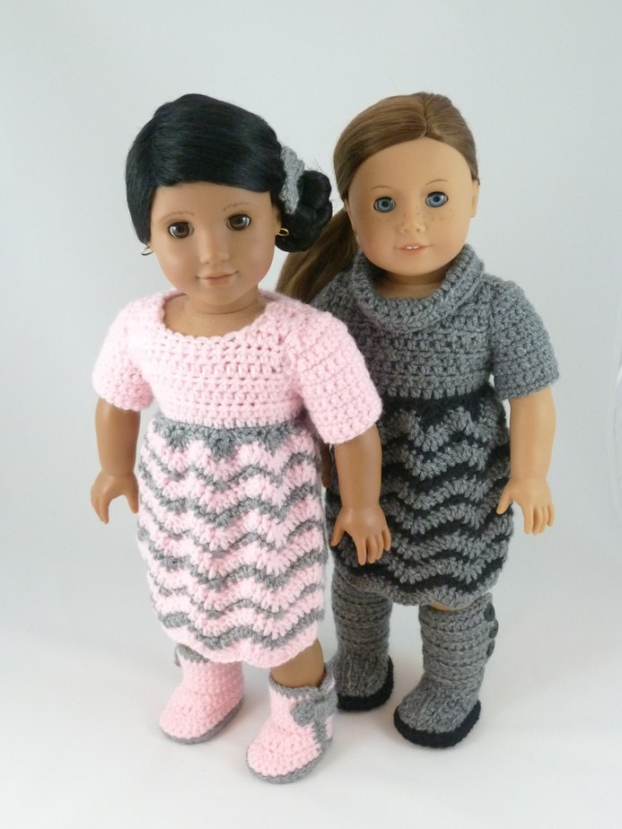 Crochet Pattern – Chevron Dress for 18 inch American Girl Dolls ...