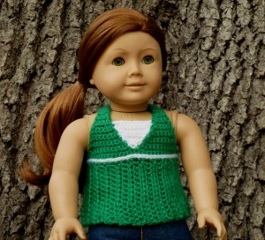 Breezy Halter top dress Crochet Pattern American Girl Doll