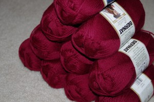 bernat satin yarn bordeaux red burgundy