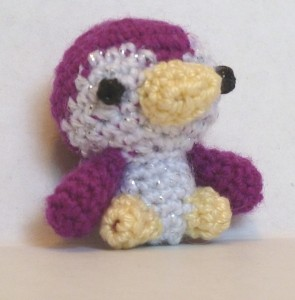 mini amigurumi penguin crochet scrap sock yarn
