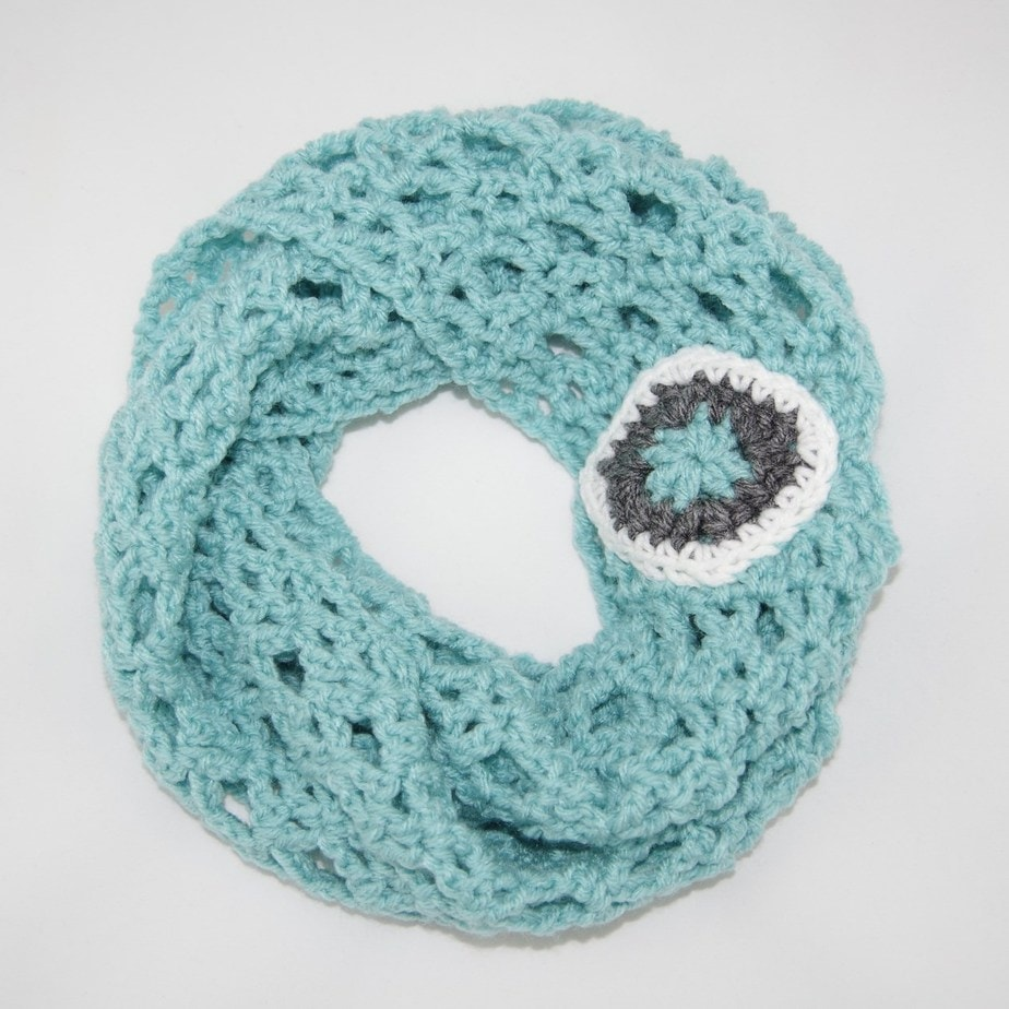 Diamond Lace Infinity Scarf Crochet Pattern Yay For Yarn