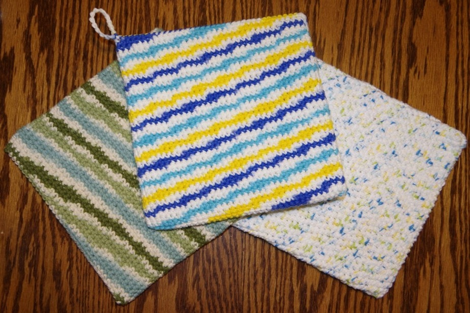 Double Thick Potholder Free Crochet Pattern