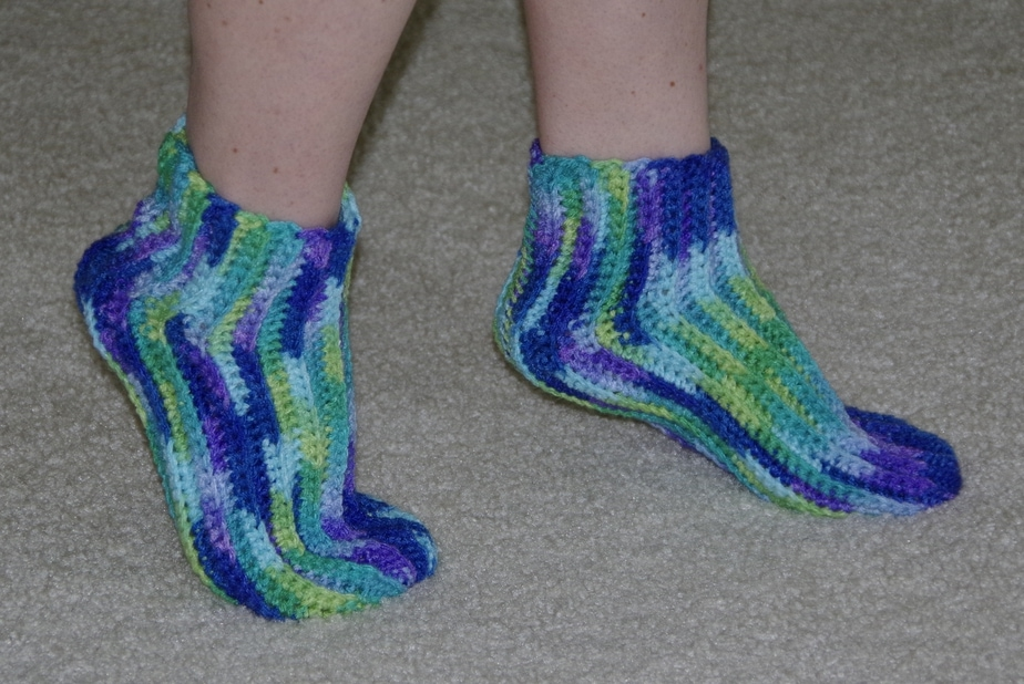 New Crochet Pattern Release – Super Easy Slipper Socks – Yay for Yarn