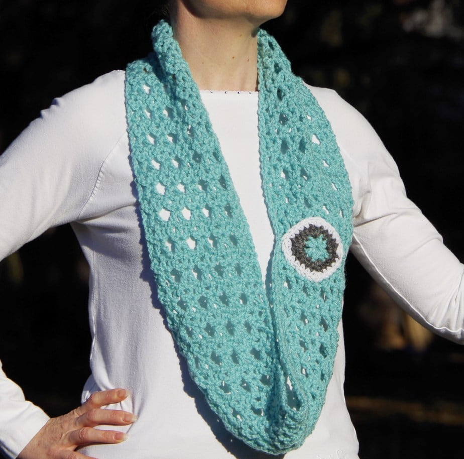 Crocheting Lace For Beginners : PDF Crochet Pattern - Diamond Lace Infinity Scarf - Sizes Child ...