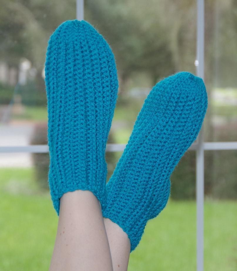 New Crochet Pattern Release Super Easy Slipper Socks