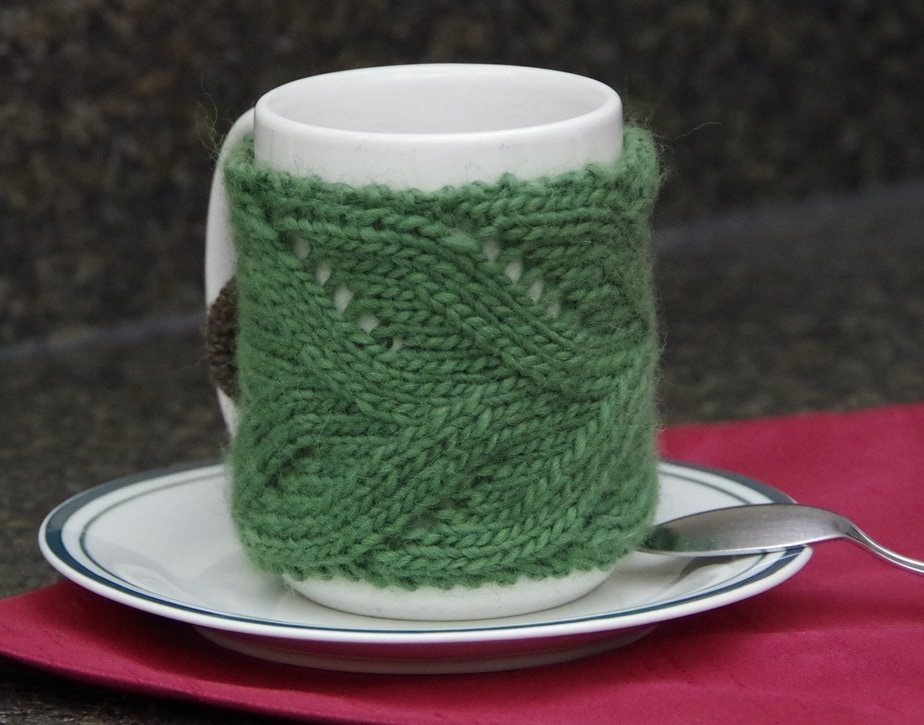 Free Mug Cozy Knitting Pattern | Yay For Yarn