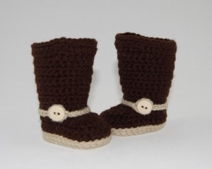 crochet pattern boots shoes button cowboy cowgirl