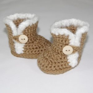 Crochet Pattern - Furry Button Boots for 18 inch American Girl Dolls