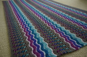 Finished Whispering Waves Afghan for my 12 Afghans In 12 Months Challenge - yayforyarn.com