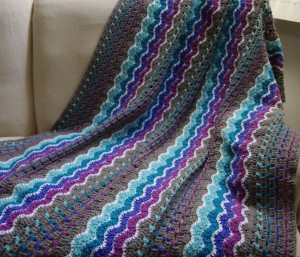 Crochet Throw Blanket - #12AfghansIn12MonthsChallenge -January afghan - yayforyarn.com