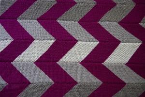 Zig Zag Chevron Blanket with Ombre Gray Stripes from yayforyarn.com