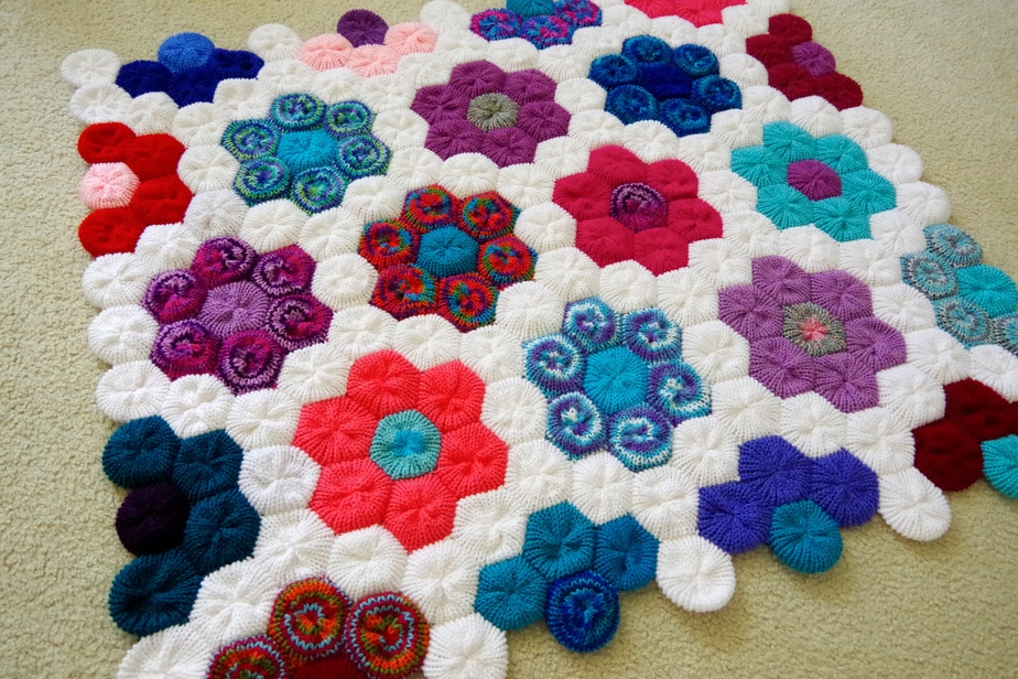 Finished March Afghan – 12 Afghans In 12 Months Challenge – Yay for Yarn