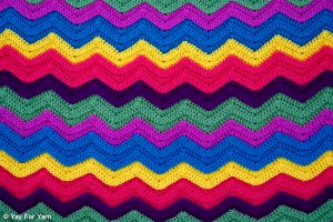 Easy Chevron Ripple Blanket - Free Crochet Pattern