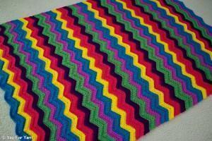 Rainbow Ridge Blanket - A Free YayForYarn.com Crochet Pattern