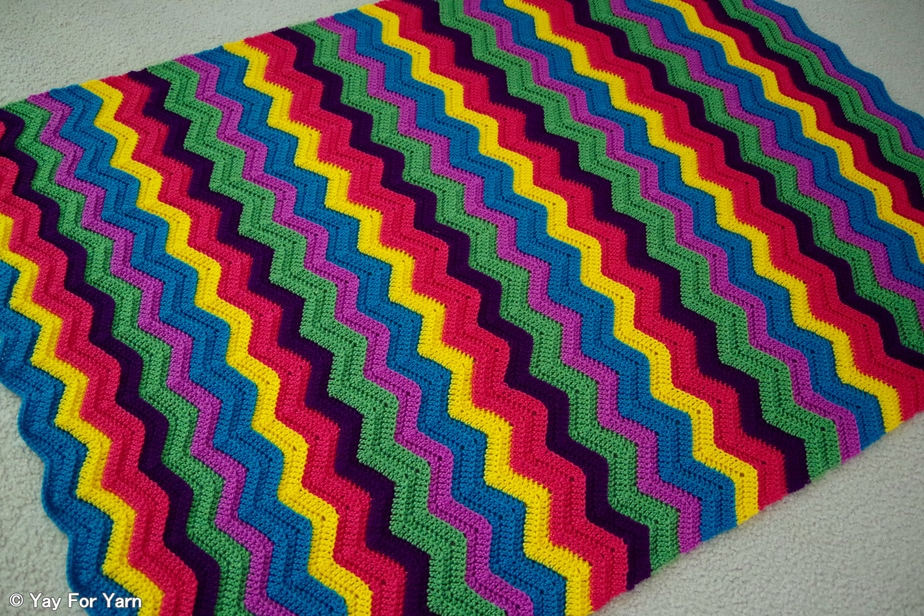 Free Crochet Patterns For Home Decor Rainbow Ridge Afghan Free Crochet Pattern Yay For Yarn