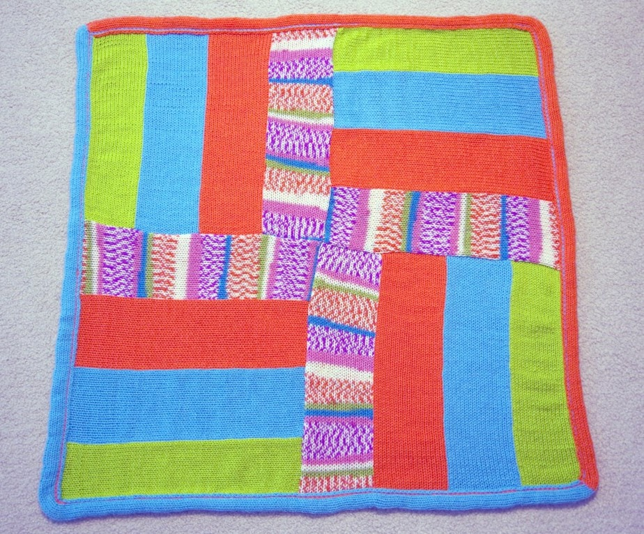 Quick and Easy Strip Afghan - Made with flat panels from Addi Knitting Machine
