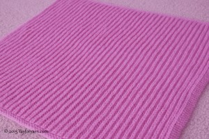 Easy Brioche Baby Blanket - Free Knitting Pattern from Yay For Yarn Blog