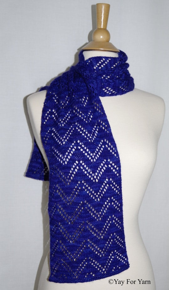 Knitting Machine Scarf Pattern : Double Chevron Lace Scarf   NEW Knitting Pattern by Yay For Yarn   Yay for Yarn