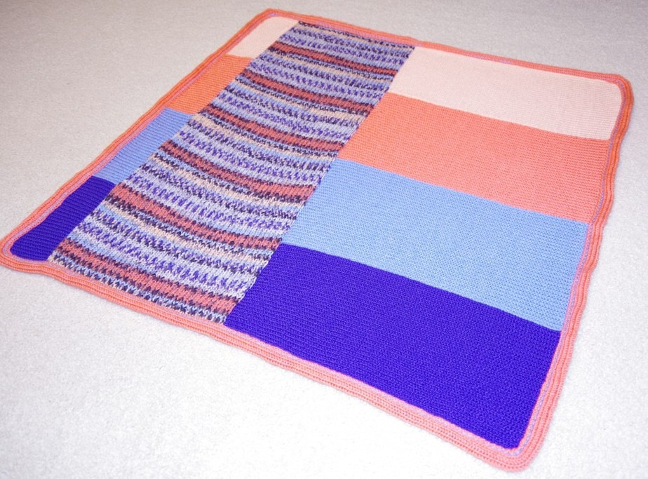 This Cool Striped Afghan makes a Quick and Easy Gift!