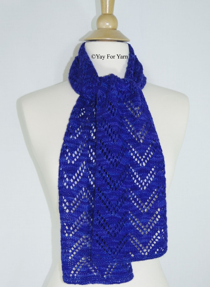 Knitting Patterns For Lace Yarn : Double Chevron Lace Scarf   NEW Knitting Pattern by Yay For Yarn   Yay for Yarn