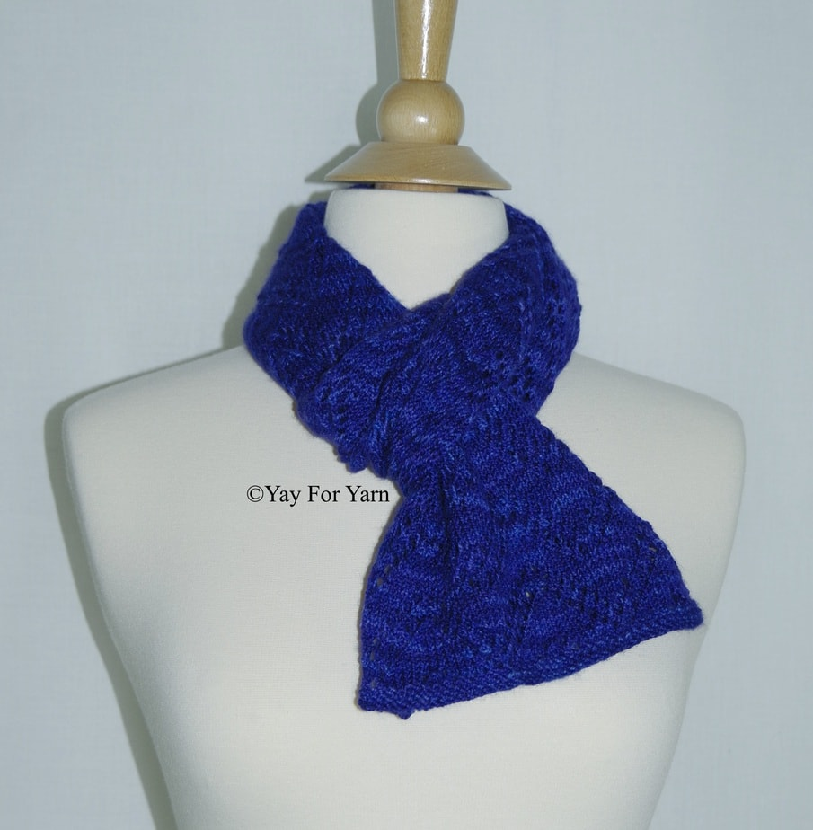 Double Chevron Lace Scarf – NEW Knitting Pattern by Yay For Yarn ...