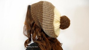 How to Knit a Chunky Brioche Slouchy Hat in SHORTCUT Brioche Stitch - Free Knitting Pattern