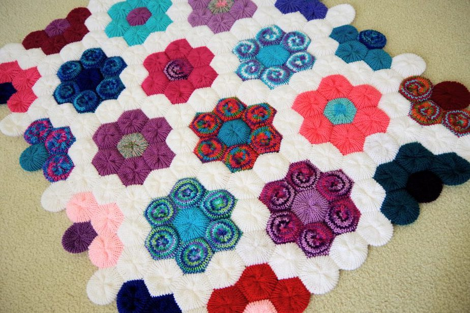 How to Make the Hexagon Flower Afghan on your Addi Express Professional Knitting Machine
