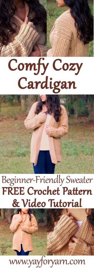 This soft, slouchy cardigan is a fall wardrobe essential! It's so cozy, you'll want to make one in every color!