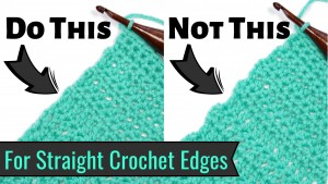 Are the edges of your crochet wavy? Are there gaps from turning chains along the sides? Fix that problem NOW with a Chainless Starting Stitch!