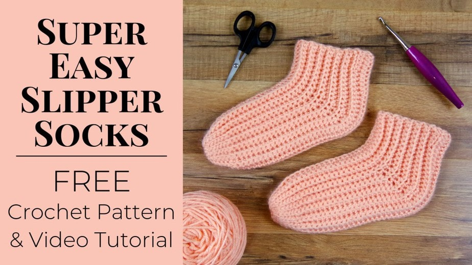These might be the easiest socks you'll ever crochet!
