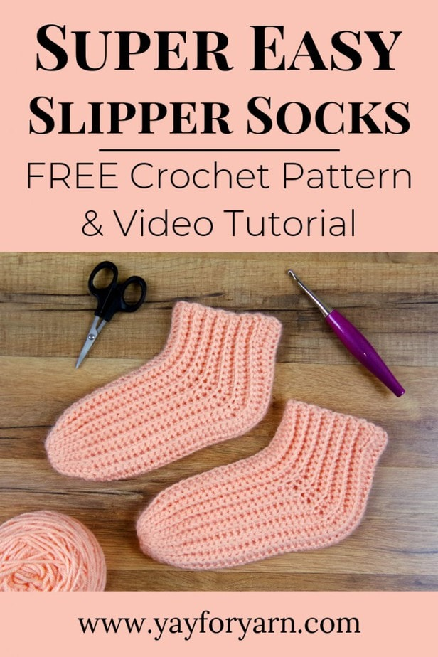These might be the easiest socks you'll ever crochet! Worked sideways in rows for extra stretch and comfort, these simple crochet socks will keep your toes toasty warm.