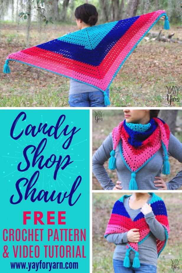 This simple, easy-to-make triangle shawl is the perfect spring and summer accessory! Make it in any yarn, at any gauge, to match all your favorite outfits.