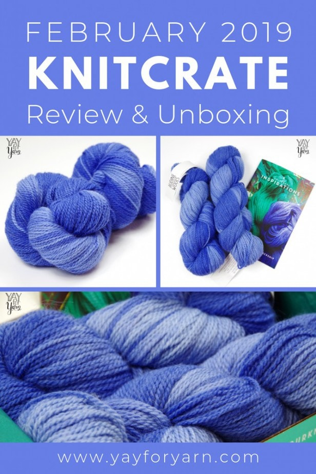 You've got to see the gorgeous yarn I received in my KnitCrate Subscription for February 2019! Plus, don't miss this exclusive coupon, just for my readers!