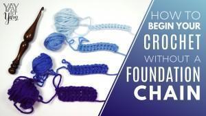 Free Foundation Crochet Stitch Tutorial - Yay For Yarn