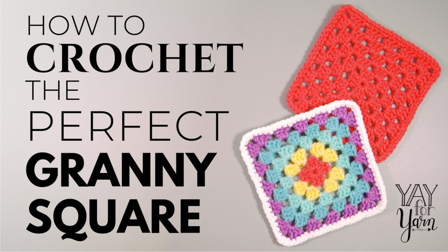 How to crochet a granny square for beginners, crochet granny square tutorial
