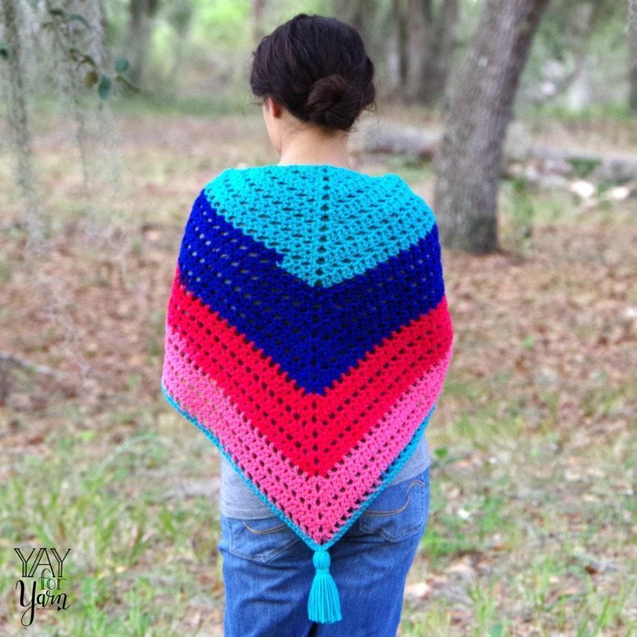 spring summer fashion shawl, lace triangle scarf