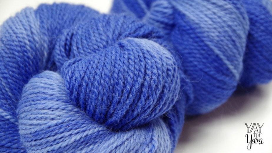 Periwinkle Yarn - Alpaca, Merino Wool, Nylon blend, Hand-Dyed