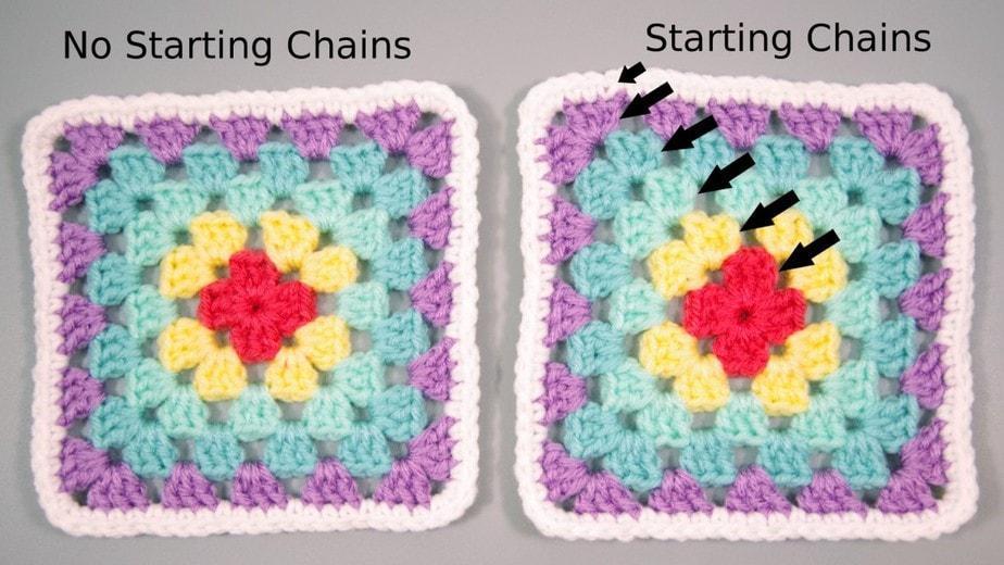 Rainbow Granny Squares - Traditional Method vs Seamless Method