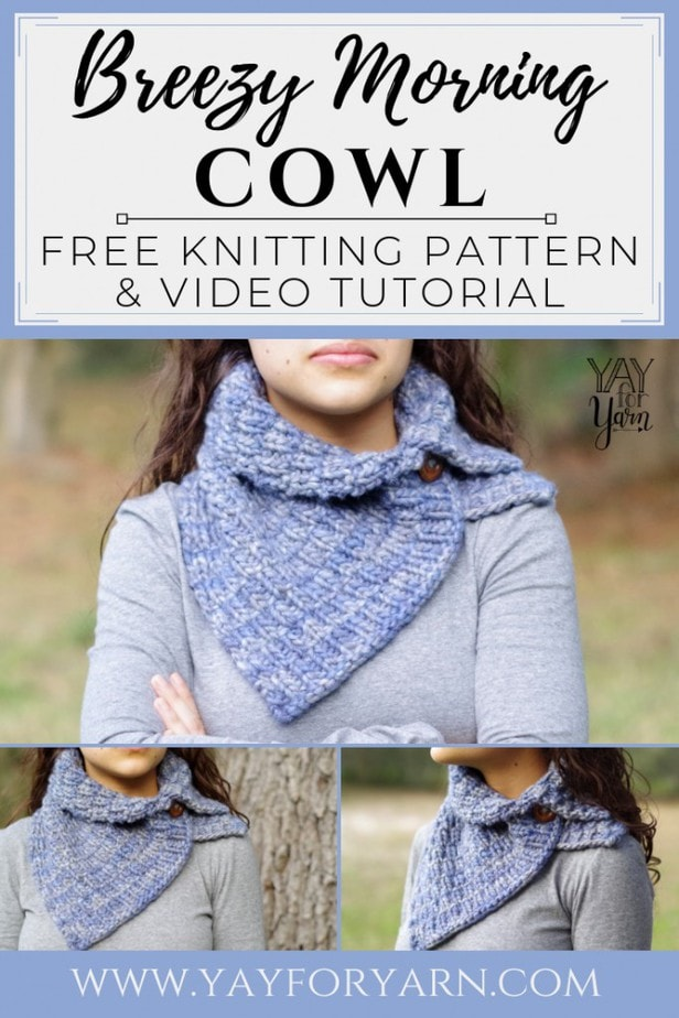 This chunky knitted cowl will keep you cozy on the chilliest of days! So quick and easy, you can make it in just a few hours.