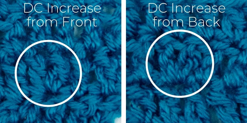 How to spot an increase in double crochet