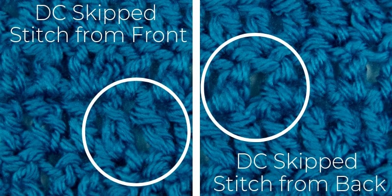 How to spot a skipped stitch in double crochet