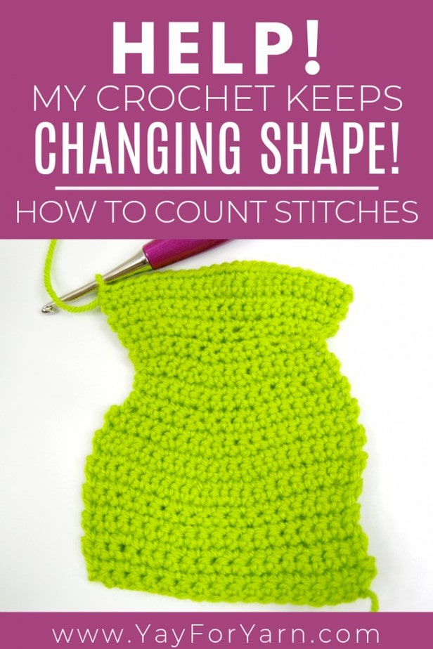 Is your crochet a wonky shape? Does it get wider or narrower as you go? Learn to properly count your stitches and fix that problem NOW!