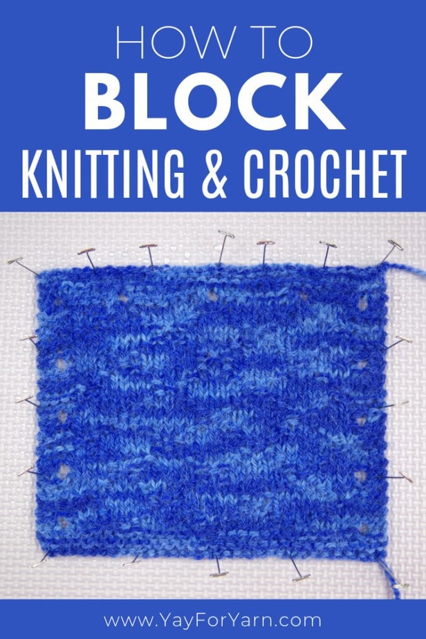 Learn the best ways to block your knitting & crochet projects! These tips will help your projects look neater and more professional every time. Click through to read the full post and watch the video tutorial, or pin for later! #knittingtips #crochettips #crochettutorials #knittingtutorials #knittingtipsforbeginners #crochettipsforbeginners #blocking #blockingcrochet #blockingknitting