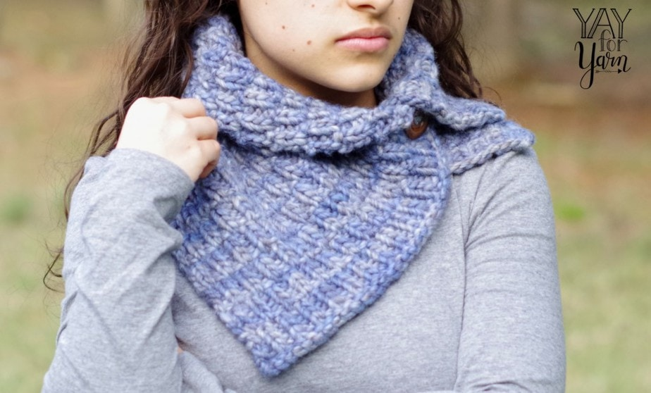 This thick, squishy cowl is sure to keep you cozy on the chilliest of days.