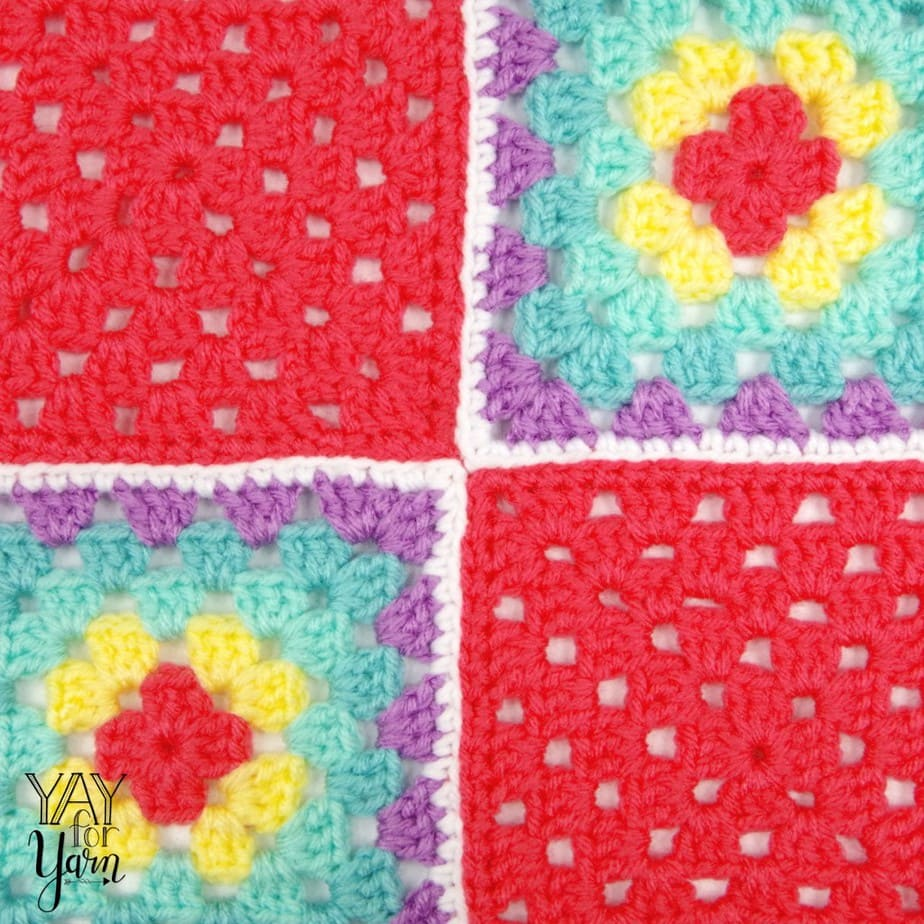 Sew granny squares together with an invisible seam