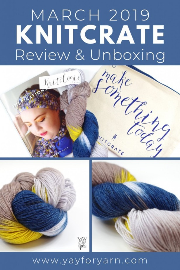 You've got to see the gorgeous yarn I received in my KnitCrate Subscription for March 2019! Plus, don't miss this exclusive coupon, just for my readers!