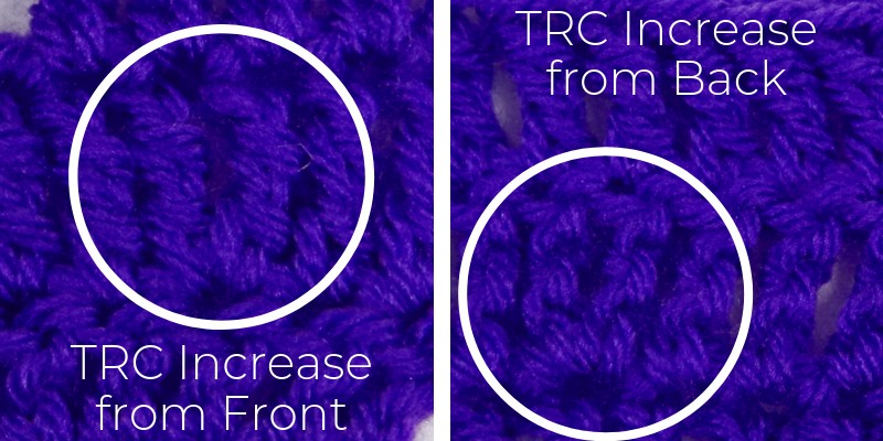 How to spot an increase in treble crochet