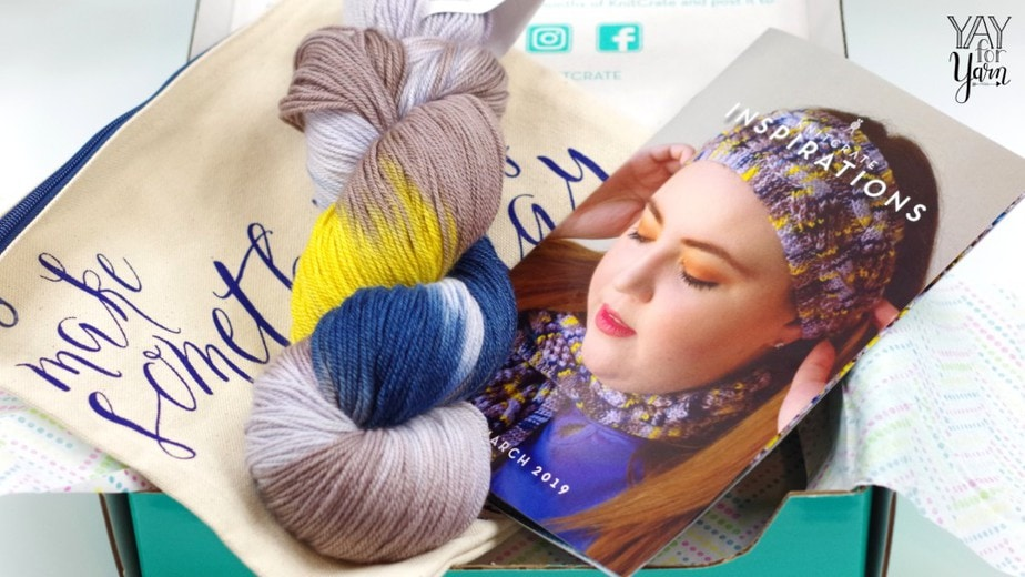 KnitCrate review and unboxing - affordable luxury yarns with knit and crochet patterns - knitting kit, crochet kit