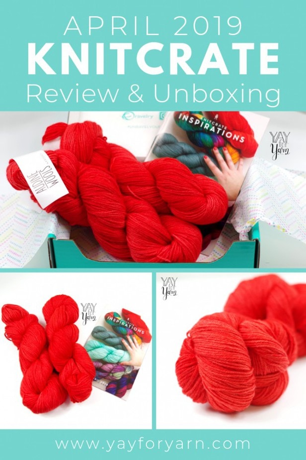 I can't wait to make something from the super-squishy yarn I got in the April 2019 KnitCrate! Plus, don't miss this exclusive coupon code, just for my readers!