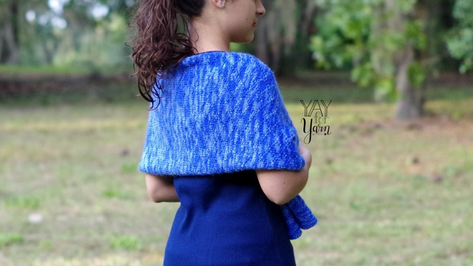 Easy Rectangle Shawl / Wrap Pattern in DK Weight Yarn